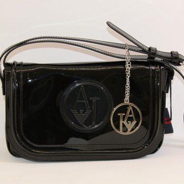 0997663fd4d LOVE MOSCHINO - Black shopping bag w golden letters - Vissanti ...