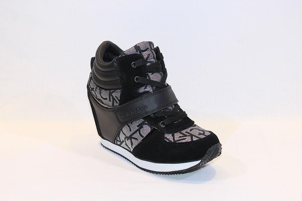 7c71c471358 Calvin Klein - black wedge sneakers - Vissanti - Loja Online de ...