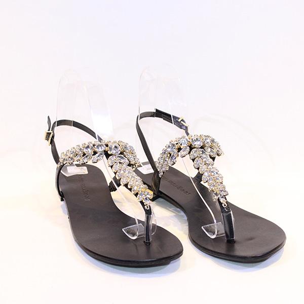 1dde47fd841 Raphaella Booz - black sandals w stones - Vissanti - Loja Online de ...