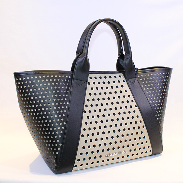 1c559b4269a Armani Jeans - black and cream handbag w holes - Vissanti - Loja ...
