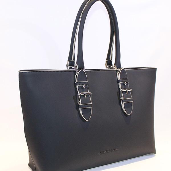 84f664a9c2e Armani Jeans - black and cream shopping bag - Vissanti - Loja Online ...