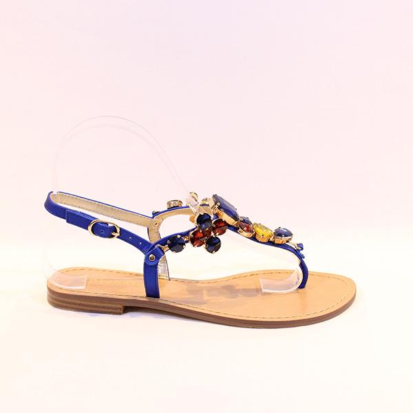 da0f3c0b626 CAFE NOIR - blue sandals w stones - Vissanti - Loja Online de ...