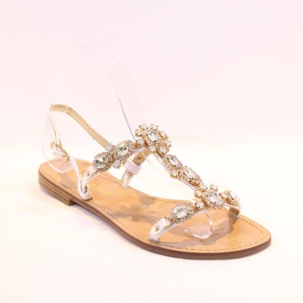 1fb1fa80ea7 CAFE NOIR - white sandals w stones - Vissanti - Loja Online de ...
