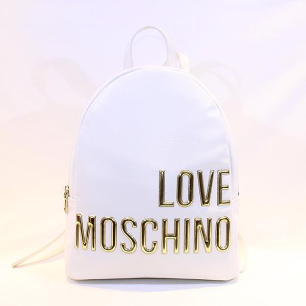 de34caeb3eb22 LOVE MOSCHINO - White backpack w golden letters - Vissanti - Loja ...