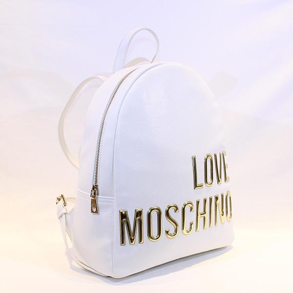 1731f2cd6b6 LOVE MOSCHINO - White backpack w golden letters - Vissanti - Loja ...