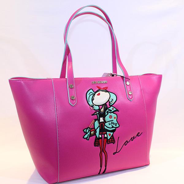 e9de73a8939 LOVE MOSCHINO - pink Shopping bag doll - Vissanti - Loja Online de ...