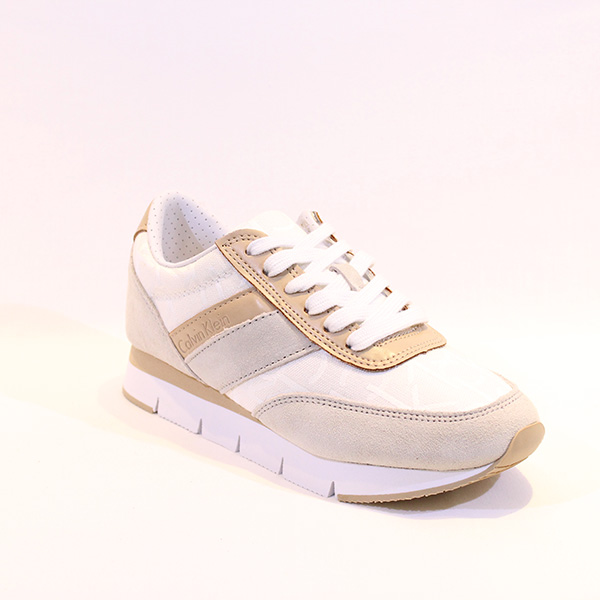 7022abf1d3c31 Calvin Klein - beige sneakers - Vissanti - Loja Online de Sapatos e ...