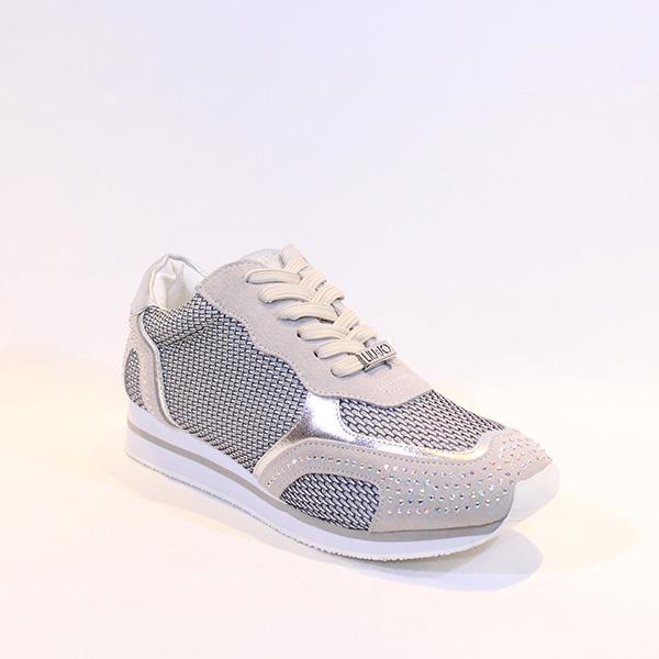 3049db93f97 Liu Jo - cream and silver sneakers - Vissanti - Loja Online de ...